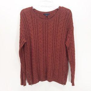 American Eagle Sedona Cable Knit Sweater Copper